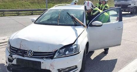 Driver has lucky escape in crash