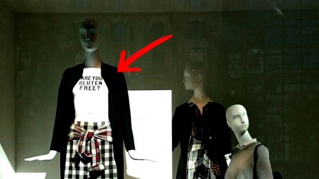 'Gluten free' Zara shirt pulled after causing offence in Spain