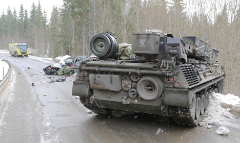 Norway motorist killed in collision with tank