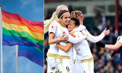 Swedish footballers fly the flag for gay rights