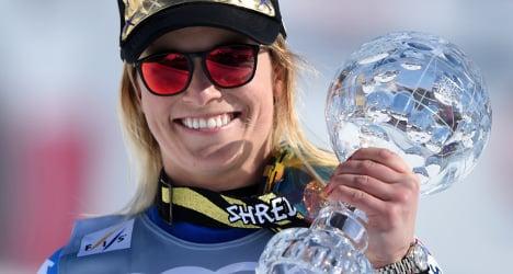 Ski star Gut finishes season with super-G title