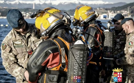 Second World War explosives removed from Italian seabed