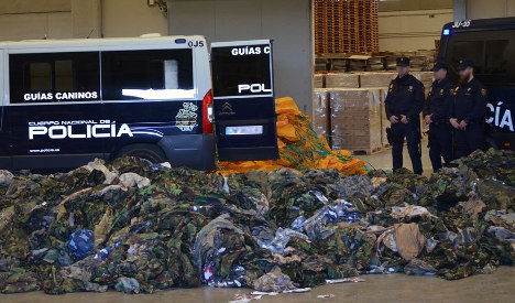 Spain seizes 20,000 military uniforms destined for Isis
