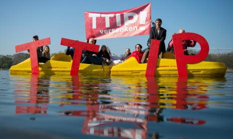 German trade deal foes plan protest on eve of Obama visit