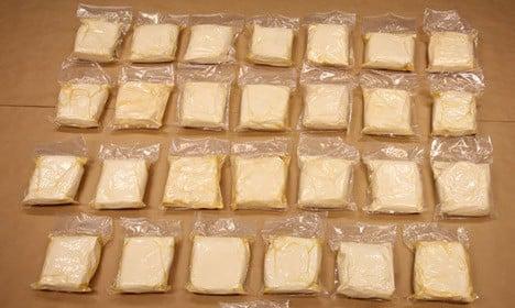 Swedish van raid leads to record drug bust