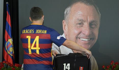 El Clásico to honour Barça football legend Johan Cryuff