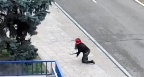 Rambo cop with plastic gun sparks panic in Madrid plaza