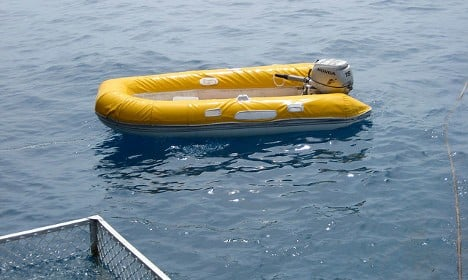 Two refugees almost cross English channel in dinghy