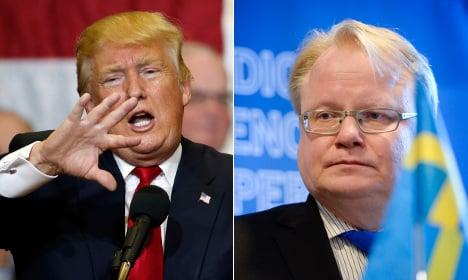 Why Sweden's defence minister won't back Trump