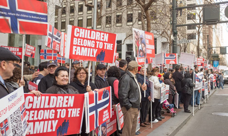 Global protests condemn 'legal kidnapping' in Norway