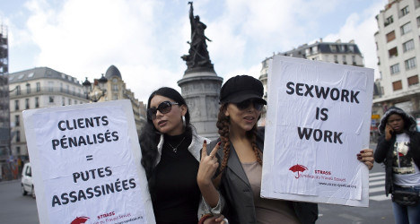 France passes law that makes paying for sex a crime