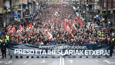Thousands of Basques march for return of Eta prisoners