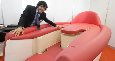 'Love-making couch' unveiled at Geneva inventions show