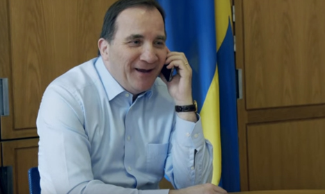 Watch the PM talk to people calling 'The Swedish Number'