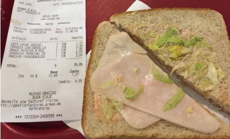 Ibiza airport rip off sandwich goes viral