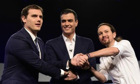 Three-way coalition talks start as clock ticks for Spain