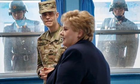 North Korean soldiers spy on Norway's PM