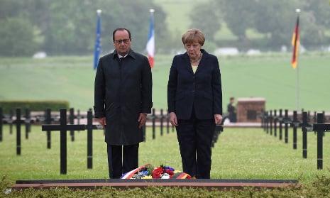 Hollande and Merkel mark centenary of Battle of Verdun