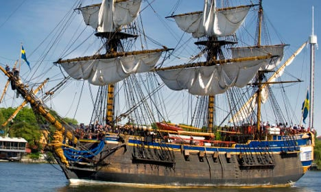 Giant replica of Swedish 18th century ship up for sale