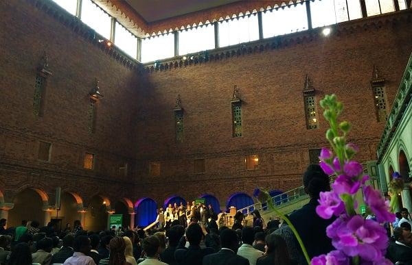 SI NFGL members graduate at Stockholm City Hall
