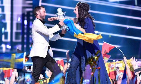Ukraine wins Eurovision Song Contest in Sweden