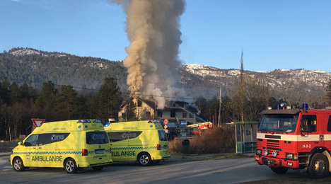 Planned Norway asylum centre destroyed by fire