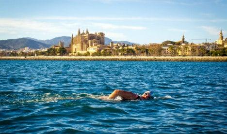 British woman braves jellyfish for Balearic swim challenge