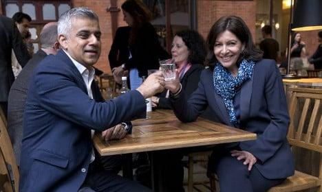 Paris mayor races to meet London counterpart Khan