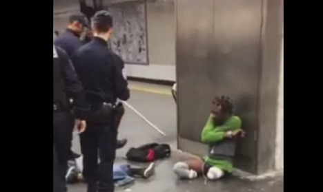 VIDEO: Outrage after French police humiliate amputee