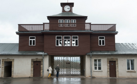 Police hunt Brits who Hitler-saluted in concentration camp