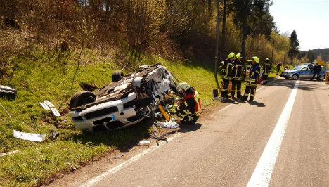 Brit in critical condition after driving on wrong side of road