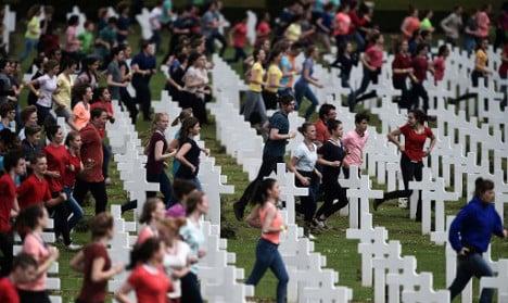Children jog among graves at Verdun: Was it 'indecent'?