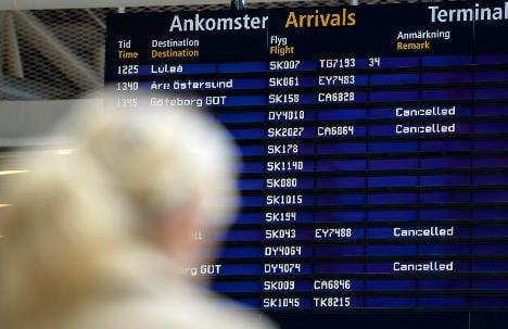 Swedish flight chaos caused by 'network maintenance'