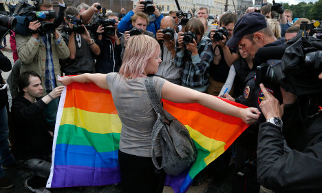 'All homosexuals in Sweden may freely come to Russia'