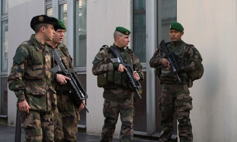 French soldier knifed by men 'angry over Syria bombings'