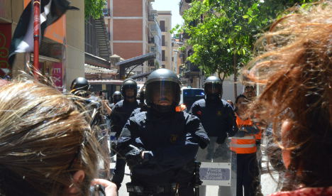 How a quiet Barcelona block became a hotbed of protests