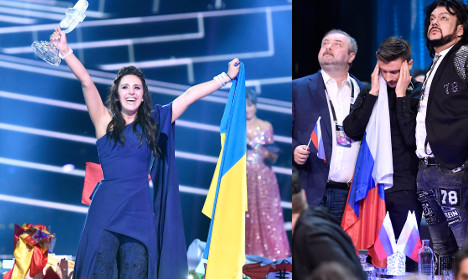 Ukraine hails Eurovision win in Sweden as Russia sulks