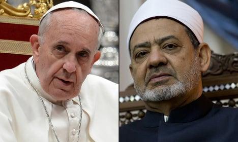 Azhar imam to urge tolerance in historic pope meeting