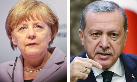 Merkel party calls to punish Erdogan over power grab