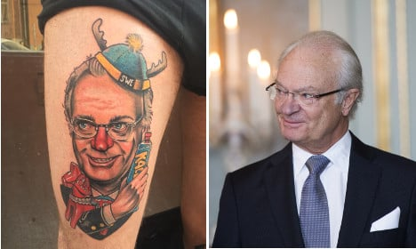 Man gets the 'most Swedish tattoo ever' in tribute to King