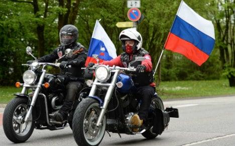Putin's biker buddies back in Berlin for war anniversary