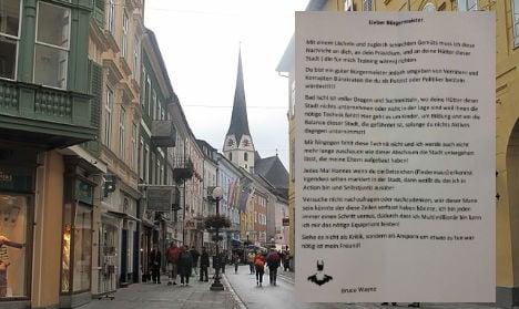 Batman takes on 'corrupt bureaucrats' in Austrian town