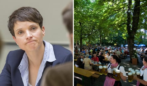 Right-wing AfD leader verboten in Munich beer hall