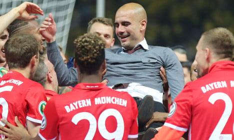 Bayern clinch German Cup on Guardiola farewell