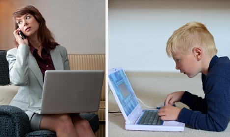 Norway kids and parents tell each other to log off