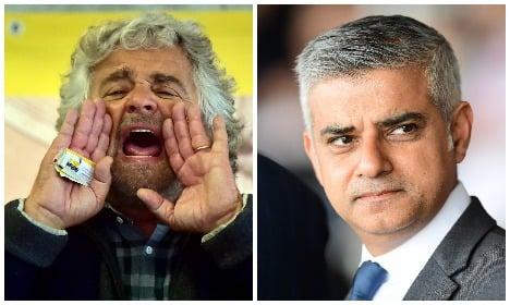 Fury as Grillo makes 'terrorist' jibe at London Muslim mayor