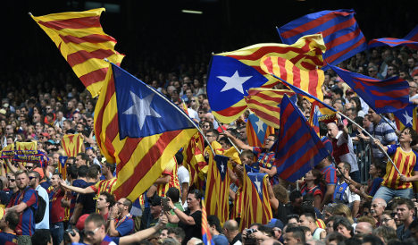 Anger as Catalan flag banned from major football match