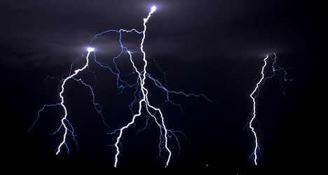 Runner killed by lightning bolt as storms batter Italy