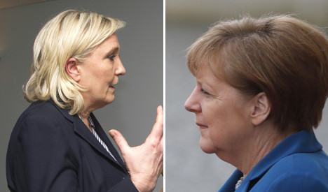 Marine Le Pen blasts 'outrageous' meddling Merkel