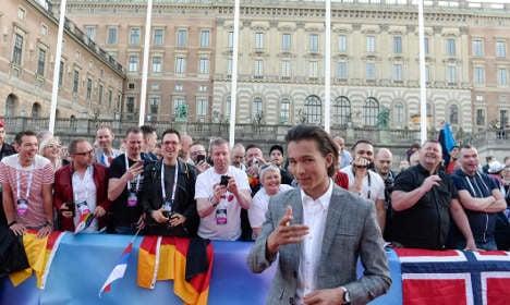 Eurovision artists walk red carpet in Stockholm
